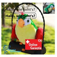 Sprechender Papagei Plüsch spricht nach und läuft Lustig Kinder Spielzeug Vogel