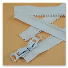 Reißverschluss für Bettwäsche 1 Weg orange schließbare Länge 30-200 cm