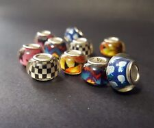 Acrylic European Beads - Mix and Match Beads - 14mm European Beads - Lot Beads