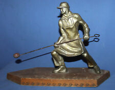 Vintage Romanian hand made metal smelter statuette