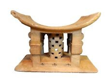 """Superb and Rare Old Ashanti Carved Wood  Stool 22"""" W by 14.5"""" H"""