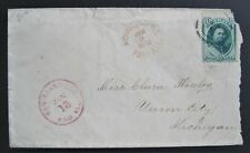 JAN 8 1878 Hawaii Cover with Rare Honolulu Paid All cancel less than 75 known