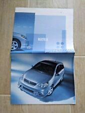 2003 Toyota Matrix Photo Display Dealership Advertising Brochure Booklet New SUV