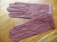 vintage gants cuir  femme 7 1/4  marron  peau fabrication française  NOS gloves
