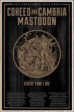 COHEED & CAMBRIA | MASTODON | ETID Unheavenly Skye Tour 2019 Ltd Ed RARE Poster!
