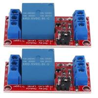 2pcs 5V 1-Channel Relay Module with Optocoupler Low Level Trigger for Arduin o