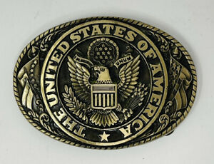 Tony Lama Belt Buckle Brass United States of America
