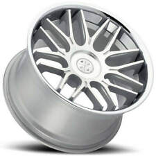 4 20 Staggered Blaque Diamond Wheels Bd 27 Silver Machined With Chrome B55 Fits 2012 Jeep Grand Cherokee