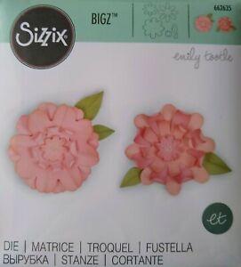 Sizzix BIGZ Die FLOWERS w/ LEAVES ~ Emily Tootle 662635 inc 4 Flowers & 2 Leaves