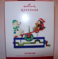 HALLMARK KEEPSAKE CHRISTMAS 2013 ORNAMENTS UP FOR FUN  NEW IN BOX