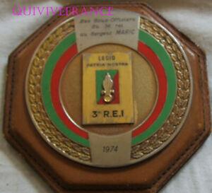 PLAQUE SOUVENIR 3°REI LEGION ETRANGERE SERGENT 1974