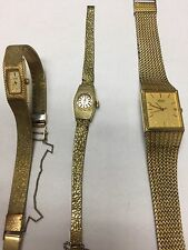 3 Antique Vintage SEIKO Stainless Steel Back Watches