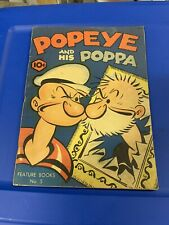 Popeye Feature Book No 5  Popeye and His Poppa Great Condition King Pub. RARE