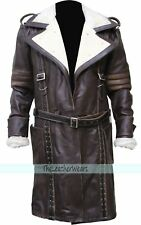 New Fall Out 3 Men's Vintage Real Distressed Leather Trench Coat, XXS - 3XL