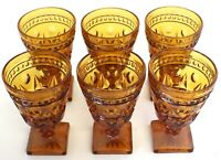 """Indiana Glass Colony Park Lane Pedestal Cordial Glass 4 1/2"""" (6) Total Vintage"""