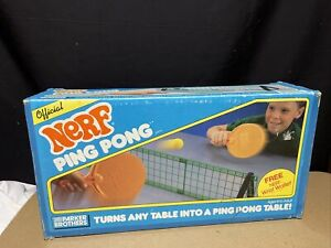 Vintage Parker Brothers Model # 0304 Official NERF Ping Pong Table Game 1987 VGC
