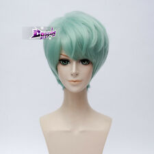 """12"""" Short Light Green Anime For Mystic Messenger V Haloween Cosplay Party Wig"""