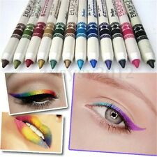 New 12Color Glitter Lip liner Eye Shadow Eyeliner Pencil Pen Cosmetic Makeup Set