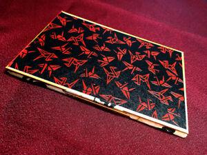 Japanese Handmade Trick Paper Holder Red Paper Cranes Pattern