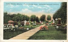 Postcard Bohemian National Cemetery Cedar Rapids Iowa