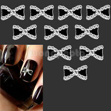 10X 3D Lazos Diamante de Imitación Decoración UV Gel Acrilico Uñas Manicura
