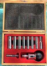 VTG 10 PC PRO SHOP DEEP WELL 1/4 INCH DRIVE SOCKETS WITH PALM RATCHET TAIWAN