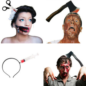 Halloween Knife Through Head Headband Adult Unisex Fancy Dress Costume Accessory