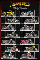 Harley Davidson Chart Poster 24x36
