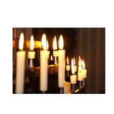 Bulk 50 Essential 150mm Plain White Wax Dinner Table Pillar Wedding Candles