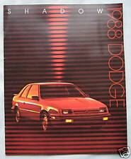 1988 Dodge Shadow (USA) Brochure Pub.No.81-205-8016