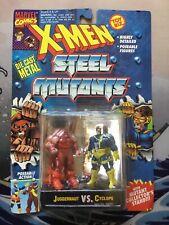ToyBiz X-MEN JUGGERNAUT vs CYCLOPS STEEL MUTANTS Vintage Action Figures MOC