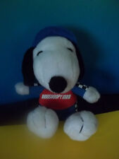 "SNOOPY METLIFE  RACE CAR DRIVER Snoopy Dog  PLUSH 5 "" GUC"