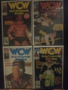 WCW Lot Of 4 Marvel Comics # 1 2 3 4 Sting Luger World Championship Wrestling 92