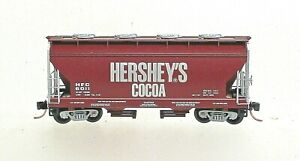 HERSHEY'S COCOA CENTER FLOW HOPPER CAR-N SCALE-MICROTRAINS