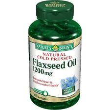 Nature's Bounty Natural Cold Pressed Flaxseed Oil Softgels, 1200mg, 125 Count