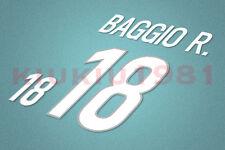 Italy Baggio #10 1998 Homekit Nameset Printing