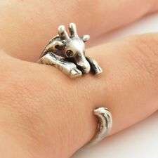 cute baby giraffe wrap ring Jewellery open animal expanding knuckle gift uk