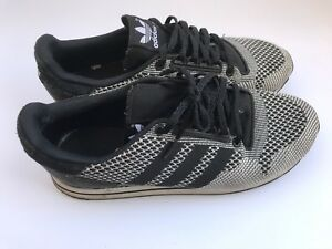 Adidas ZX 500 OG Weave Black Grey US 10 Men's Sneakers Worn Good Condition