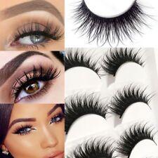 5 Pairs Natural Long Thick Soft Fake False Eyelashes Handmade Extensions Makeup