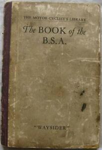 Pitmans BSA Motorcycle Maintenance Handbook 1927 2nd Edition #B7-5309