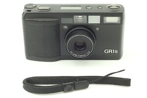 【N MINT w/ Strap】 Ricoh GR1s Black 35mm Point & Shoot Film Camera from JAPAN