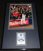 Charlie Hayes Signed Framed 11x17 Photo Display UDA 1996 World Series Yankees