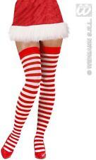 Calze babba Natale bianche rosso parigine bianco rosse natalizie