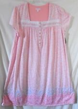 PINK WHITE SECRET TREASURES FLORAL LACE PYJAMAS NIGHTGOWN CAP SLEEVE 3X 22W -24W