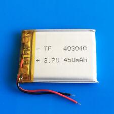 3.7v 450mAh 403040 Lipo Battery for MP3 DVD GPS Headphone Bluetooth Smart watch