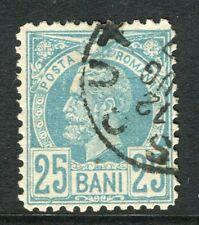 ROMANIA;  1885 early Prince Carol issue fine used 25b. value, fair Postmark