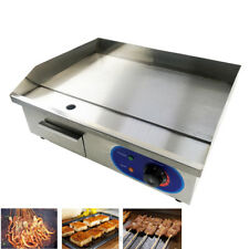 Electric Griddle Commercial Kitchen Hotplate BBQ Flat Grill Stainless Steel