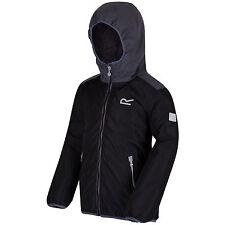 Regatta Volcanics Kids Jacket Fleece Lined Waterproof Girls Boys Coat Black 7 - 8 Years