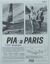 PUBLICITE PIA PAKISTAN INTERNATIONAL AIRLINES EXTREME ORIENT DE 1966 FRENCH AD