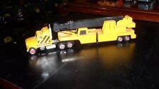 majorette Construction Crane Truck Semi Tractor Trailer 1/87 RARE Mint Shape